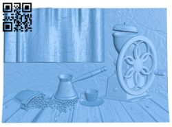 Coffee grinder painting A005466 download free stl files 3d model for CNC wood carving