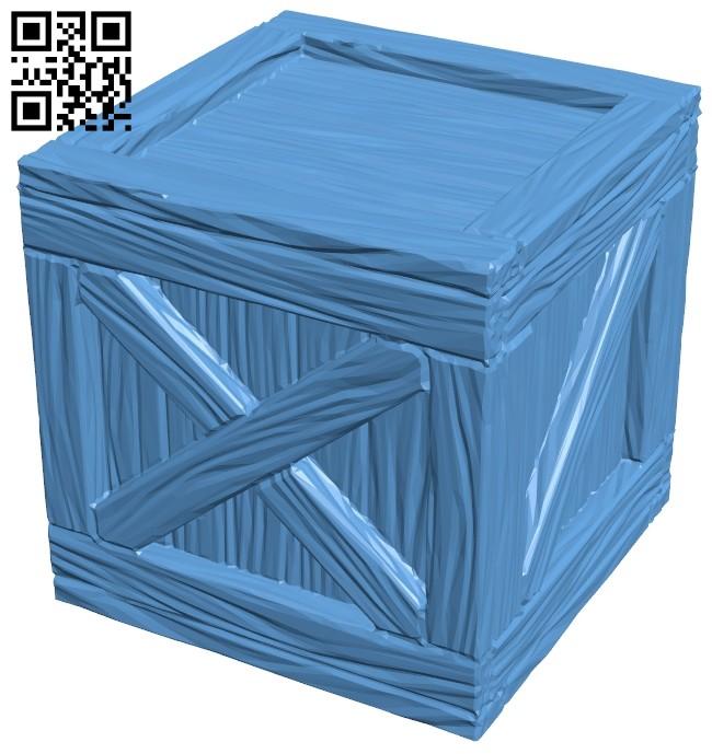 Crate wood box B008403 file stl free download 3D Model for CNC and 3d printer