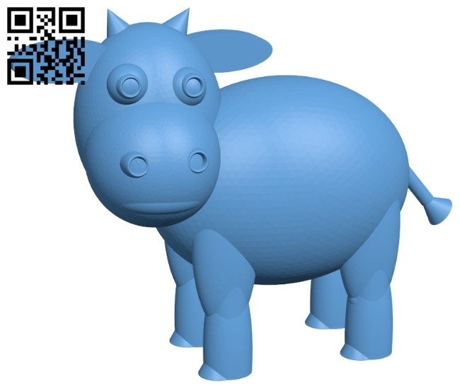 Cute cow B008547 file stl free download 3D Model for CNC and 3d printer