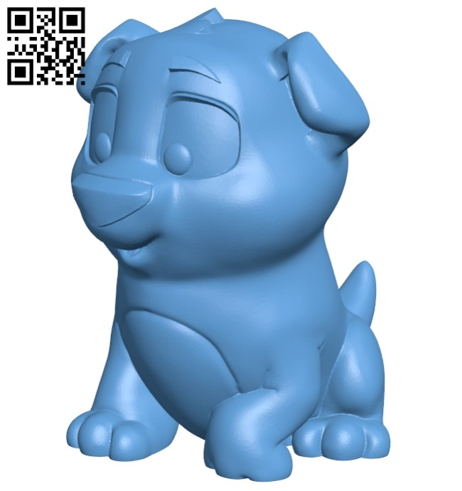 Cute puppy B008520 file stl free download 3D Model for CNC and 3d printer