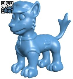 Dog Rocky B008399 file stl free download 3D Model for CNC and 3d printer