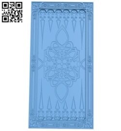 Door pattern A005449 download free stl files 3d model for CNC wood carving