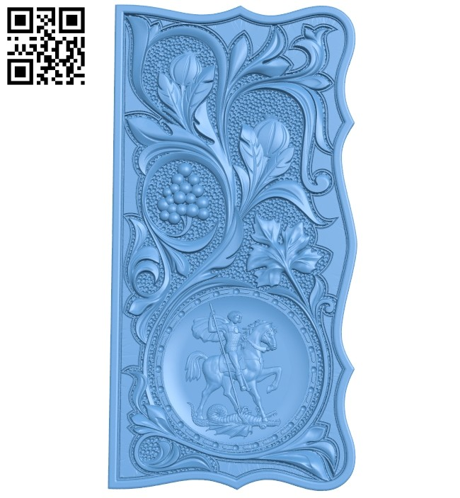 Door pattern A005450 download free stl files 3d model for CNC wood carving