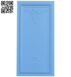 Door pattern A005452 download free stl files 3d model for CNC wood carving