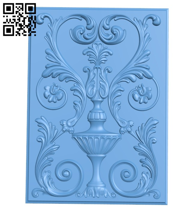 Door pattern A005454 download free stl files 3d model for CNC wood carving