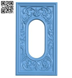 Door pattern A005462 download free stl files 3d model for CNC wood carving