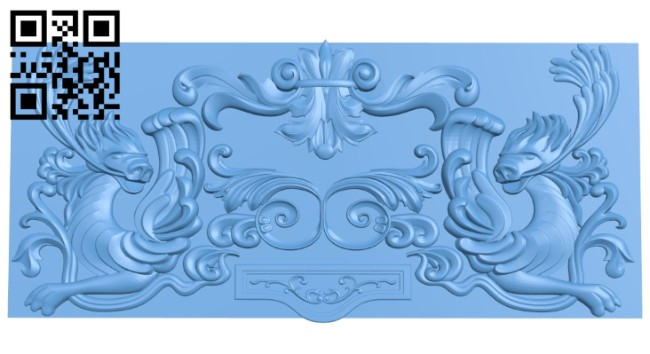 Door pattern A005544 download free stl files 3d model for CNC wood carving