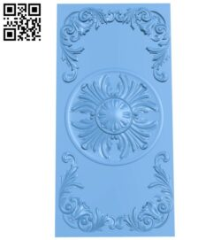 Door pattern A005545 download free stl files 3d model for CNC wood carving