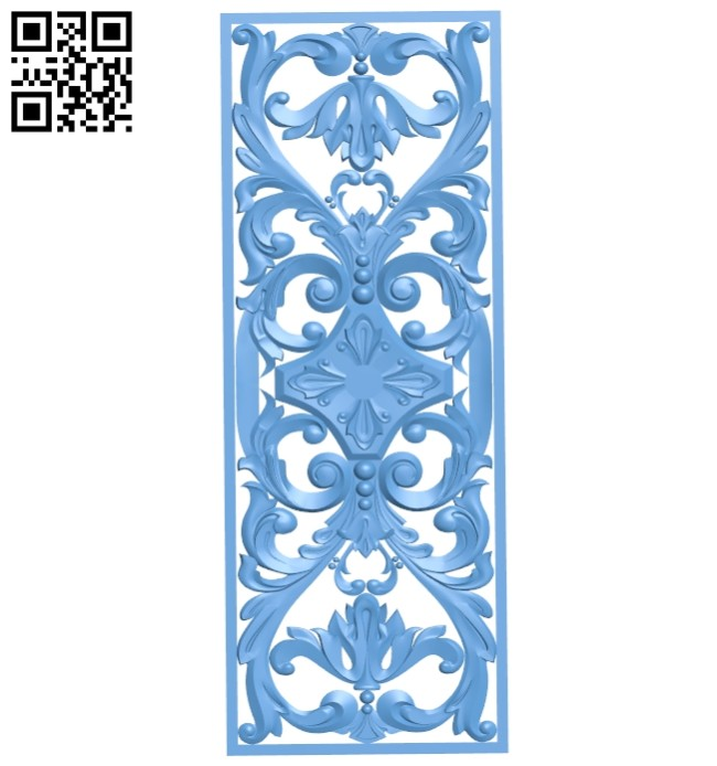 Door pattern A005547 download free stl files 3d model for CNC wood carving