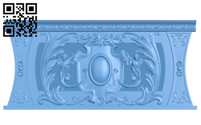 Door pattern A005549 download free stl files 3d model for CNC wood carving