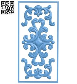Door pattern A005634 download free stl files 3d model for CNC wood carving