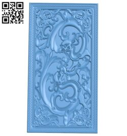 Door pattern A005635 download free stl files 3d model for CNC wood carving