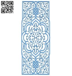 Door pattern A005636 download free stl files 3d model for CNC wood carving