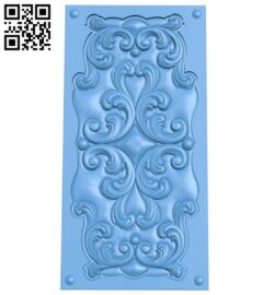 Door pattern A005637 download free stl files 3d model for CNC wood carving