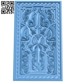 Door pattern A005638 download free stl files 3d model for CNC wood carving