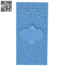 Door pattern – temple of the muslim A005448 download free stl files 3d model for CNC wood carving
