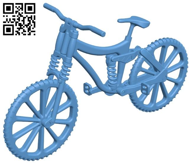 Downhill bike dual suspension B008574 file stl free download 3D Model for CNC and 3d printer