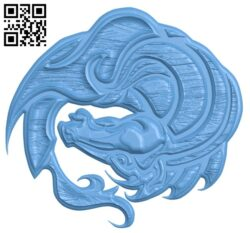 Dragon pattern A005467 download free stl files 3d model for CNC wood carving