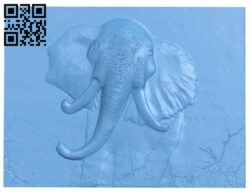 Elephant painting A005591 download free stl files 3d model for CNC wood carving