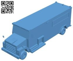 FBI Truck B008394 file stl free download 3D Model for CNC and 3d printer