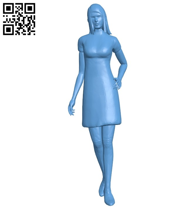 Female B008605 file stl free download 3D Model for CNC and 3d printer