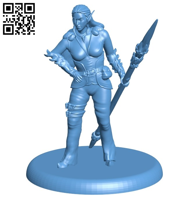 Female B008611 file stl free download 3D Model for CNC and 3d printer