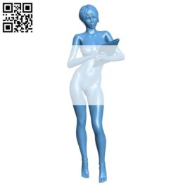 Female accountant B008575 file stl free download 3D Model for CNC and 3d printer