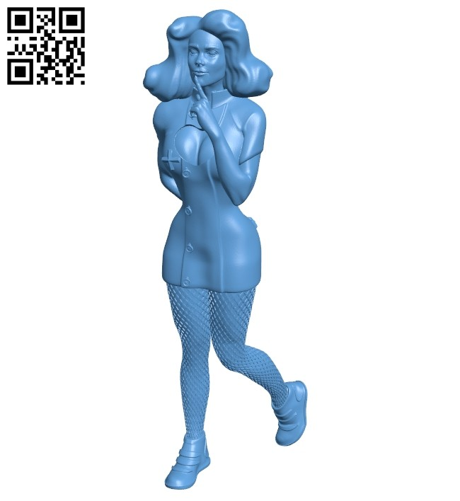 Female nurse assassin B008344 file stl free download 3D Model for CNC and 3d printer