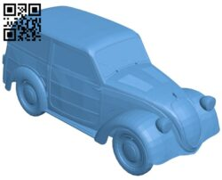 Fiat Topolino – old car B008433 file stl free download 3D Model for CNC and 3d printer