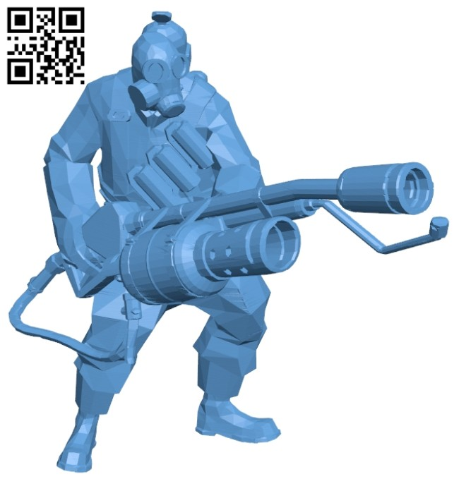 Fire soldiers B008482 file stl free download 3D Model for CNC and 3d printer