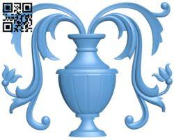 Flower vase pattern A005435 download free stl files 3d model for CNC wood carving