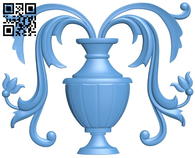 Flower vase pattern A005435 download free stl files 3d model for CNC wood carving