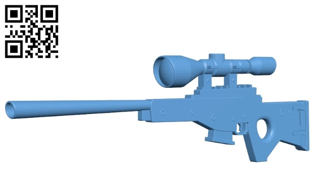 Fortnite sniper rifle B008524 file stl free download 3D Model for CNC and 3d printer