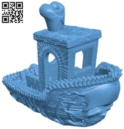 Ghost ship benchy B008518 file stl free download 3D Model for CNC and 3d printer