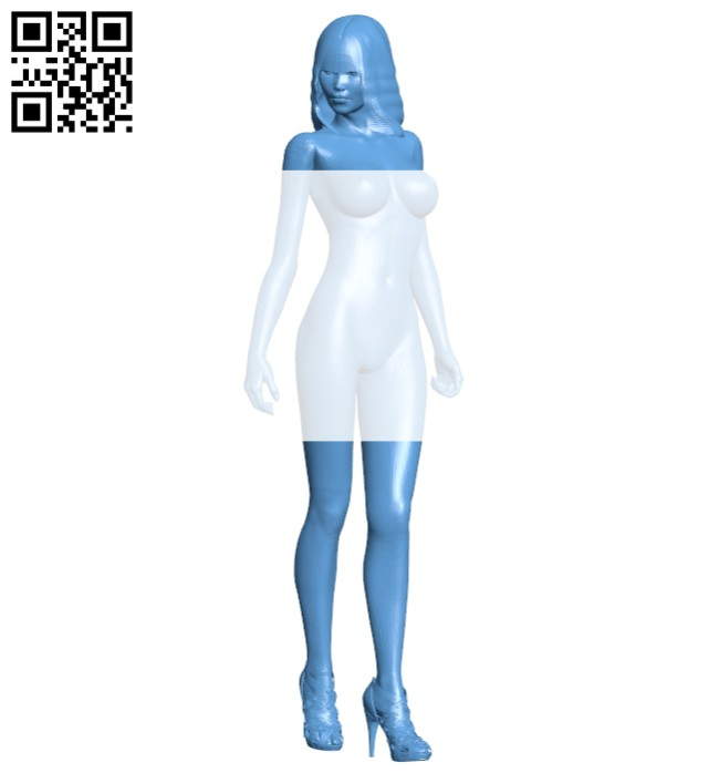 Girl B008543 file stl free download 3D Model for CNC and 3d printer