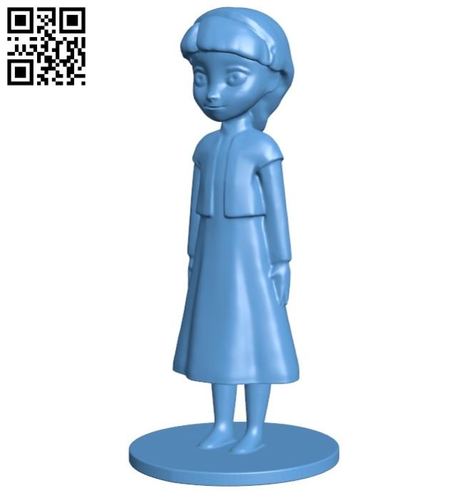 Girl - Elsa B008545 file stl free download 3D Model for CNC and 3d printer