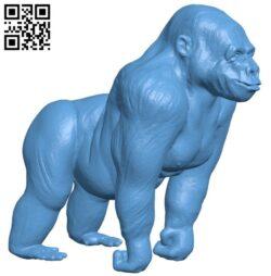 Gorilla B008366 file stl free download 3D Model for CNC and 3d printer