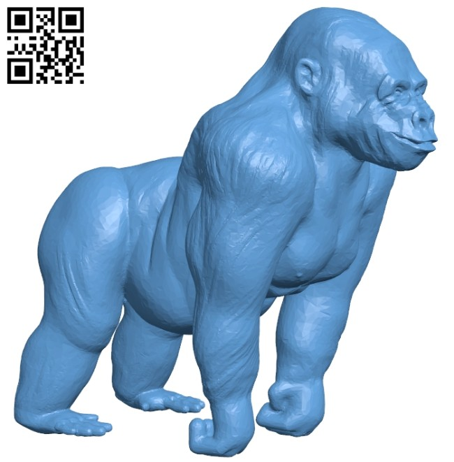 Gorilla B008366 file stl free download 3D Model for CNC and 3d printer