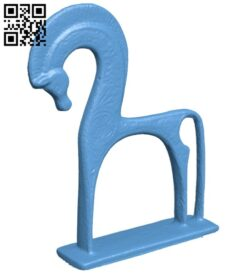 Greek horse B008486 file stl free download 3D Model for CNC and 3d printer
