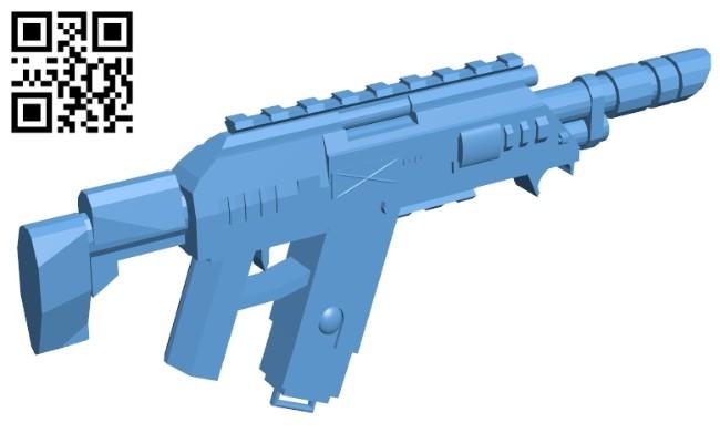 Gun - R-101c Lasgun B008492 file stl free download 3D Model for CNC and 3d printer