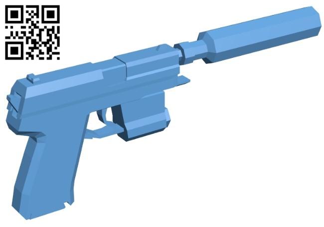 Gun usp compact B008491 file stl free download 3D Model for CNC and 3d printer
