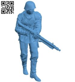 Gunner man B008357 file stl free download 3D Model for CNC and 3d printer