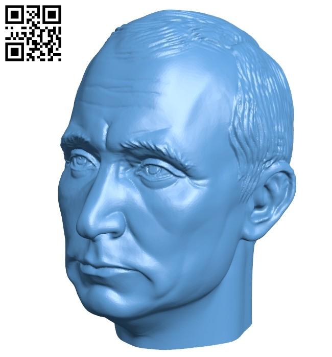 Head putin B008414 file stl free download 3D Model for CNC and 3d printer