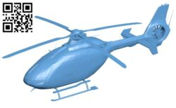 Helicopter EC-135 B008612 file stl free download 3D Model for CNC and 3d printer