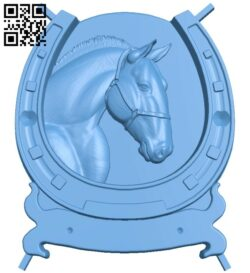 Horseshoe painting – Horse A005469 download free stl files 3d model for CNC wood carving