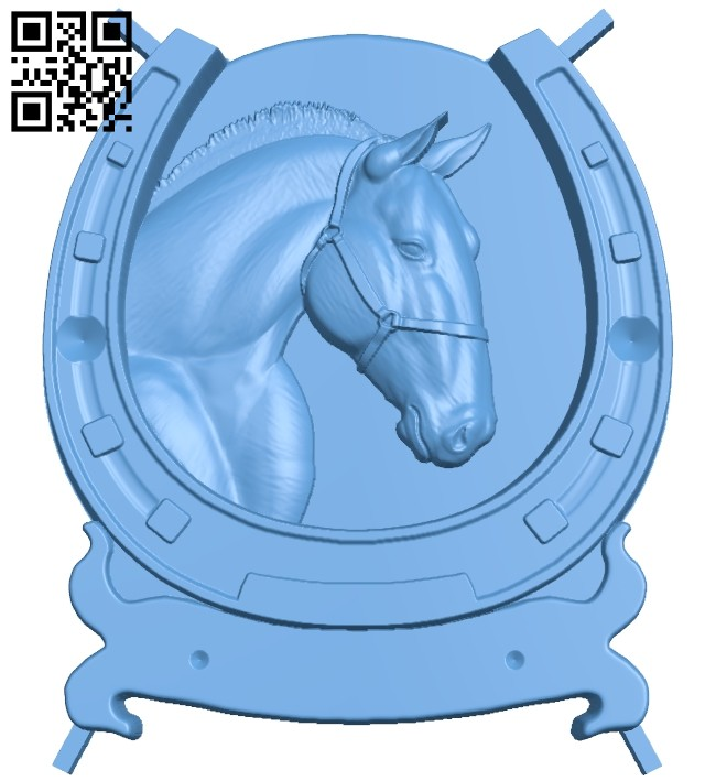 Horseshoe painting - Horse A005469 download free stl files 3d model for CNC wood carving