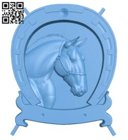 Horseshoe painting – Horse A005470 download free stl files 3d model for CNC wood carving