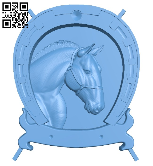 Horseshoe painting - Horse A005470 download free stl files 3d model for CNC wood carving