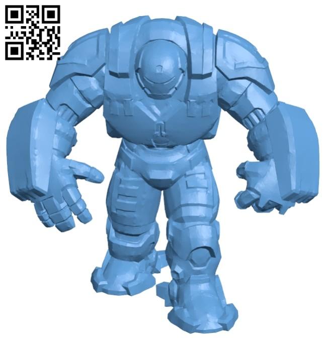 Hulkbuster - superhero B008553 file stl free download 3D Model for CNC and 3d printer