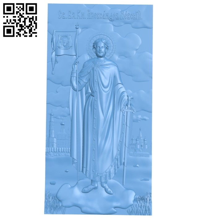 Icon Alexander Nevsky A005626 download free stl files 3d model for CNC wood carving